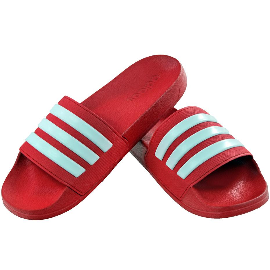 Klapki męskie adidas Adilette Shower czerwone AQ1705 Cena