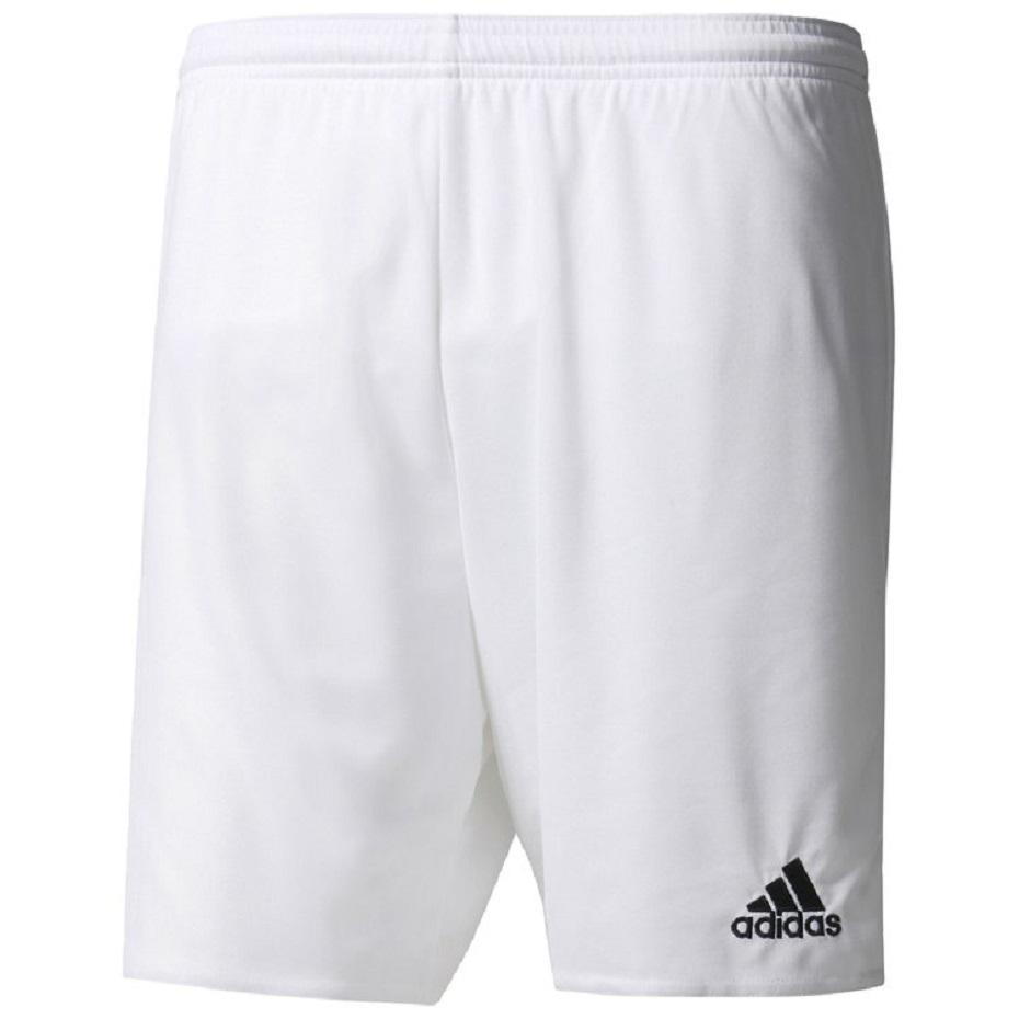 Spodenki piłkarskie Adidas Parma 16 junior AJ5886 czarno białe