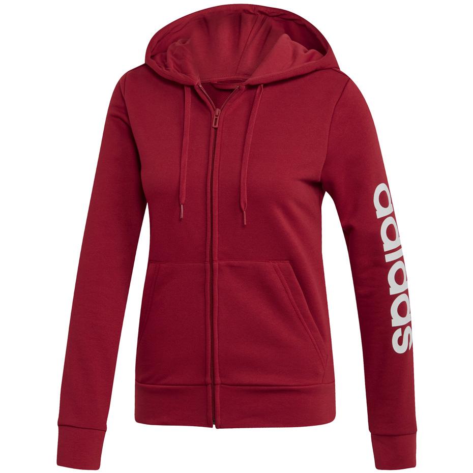 Bluza damska adidas W Essentials Linear FZ HD czerwona