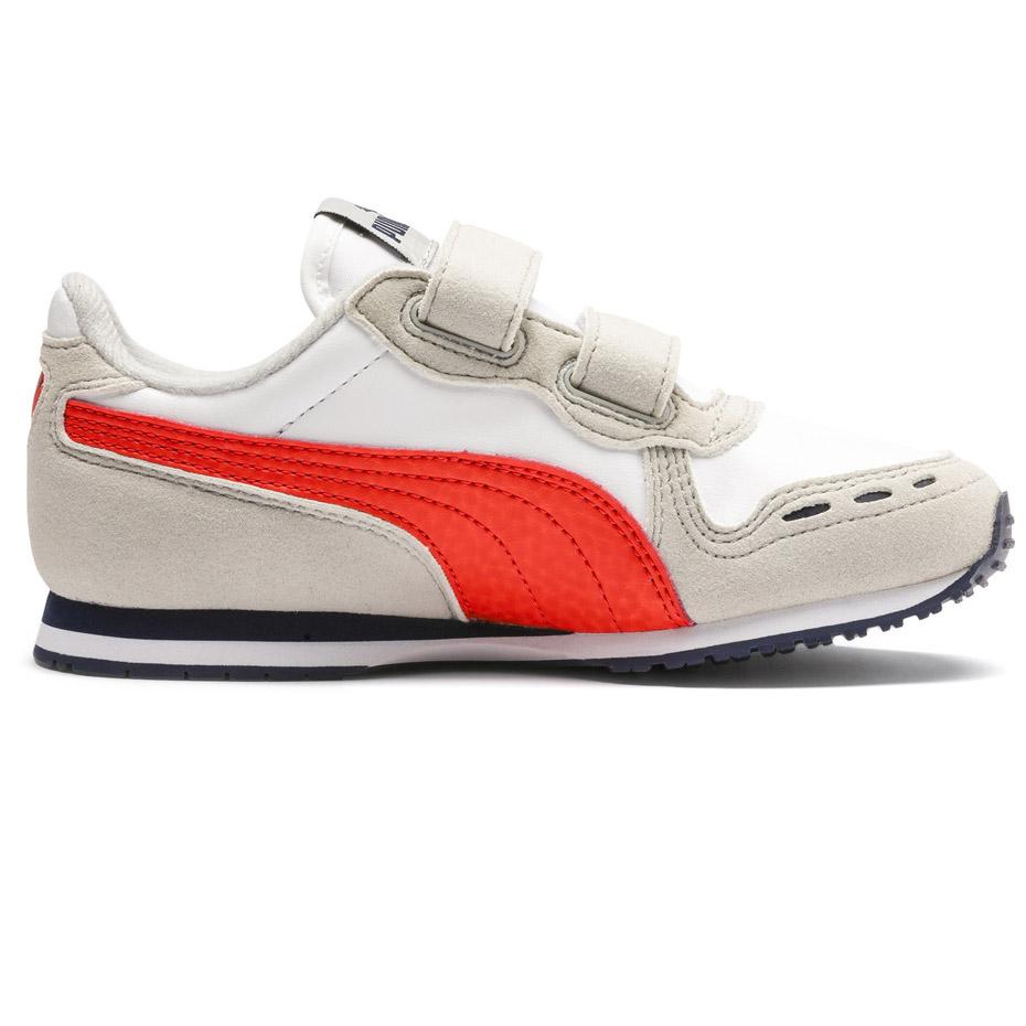 Buty dla dzieci Puma Cabana Racer SL V PS beżowo czerwone