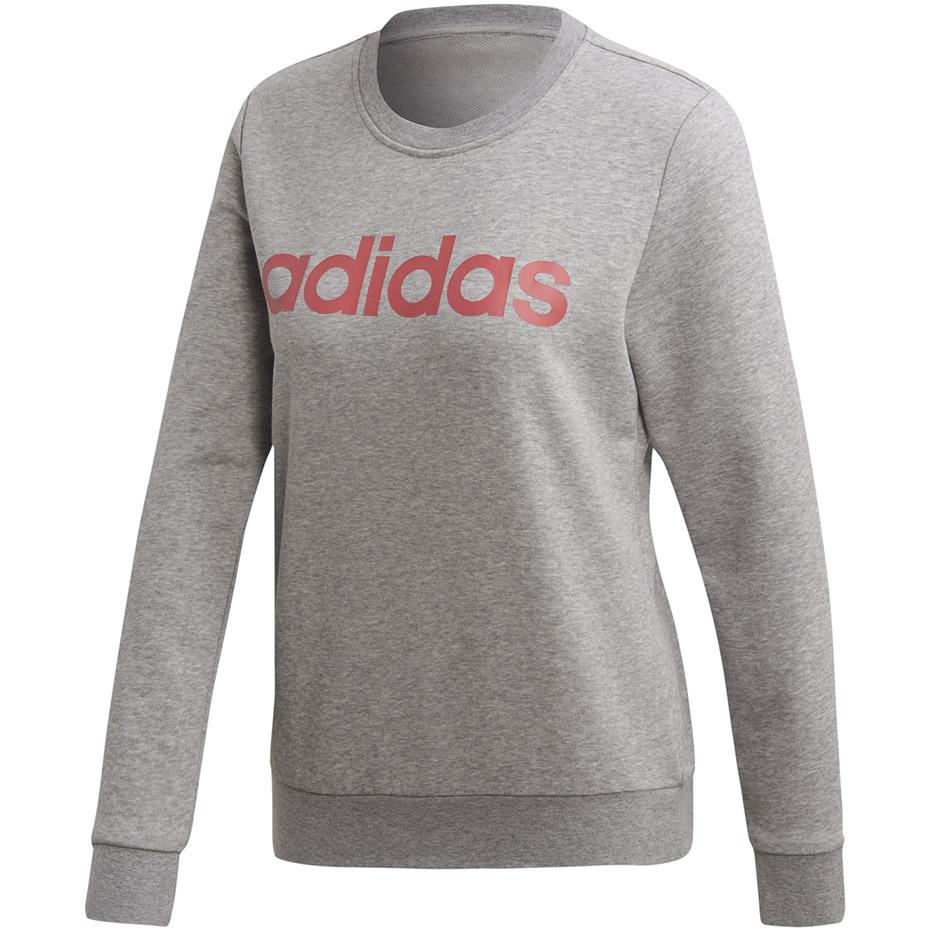 Bluza damska adidas W Essentials Linear Sweat szara FH6608