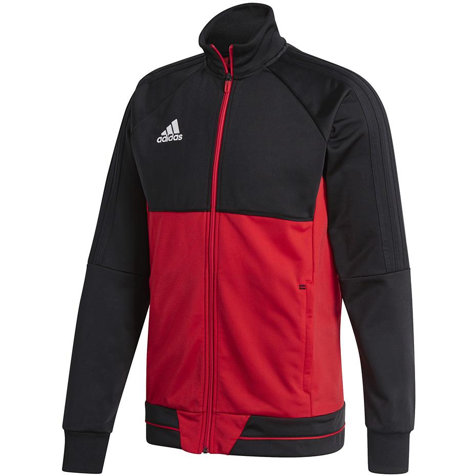 Adidas Tiro 17 bluza BQ2598 poliester na zamek czarno biała
