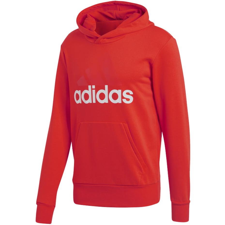 Bluza męska adidas Essentials Lin PO FT czerwona CW3860