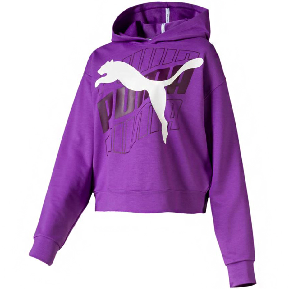 bluza puma damska fioletowo czarna