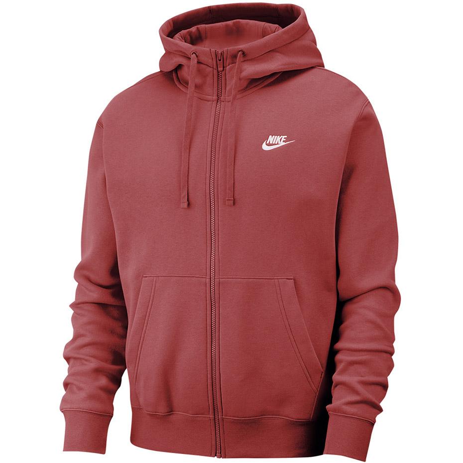 bluza męska nike club hoodie fz bb bv2645
