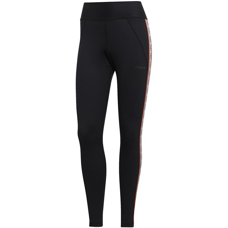 Legginsy damskie adidas W BB Tight Farm czarno białe EI0793