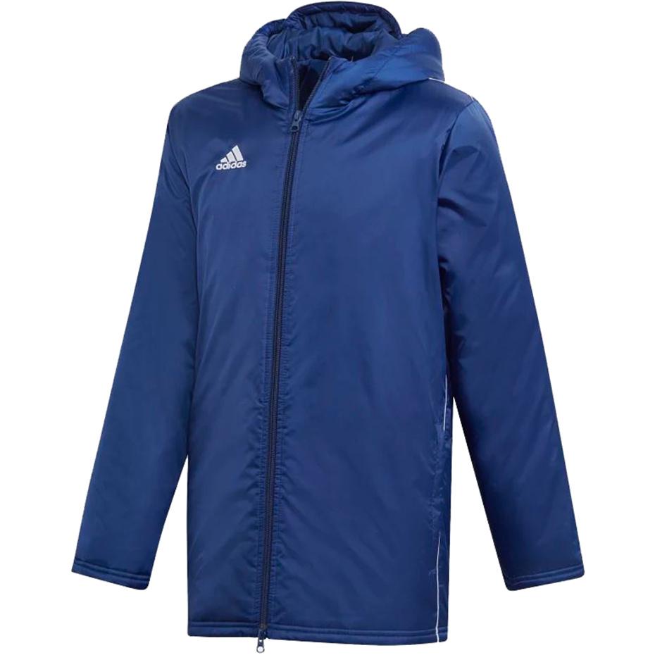 adidas Jacket18 Kurtka Zimowa CzarnyBiały