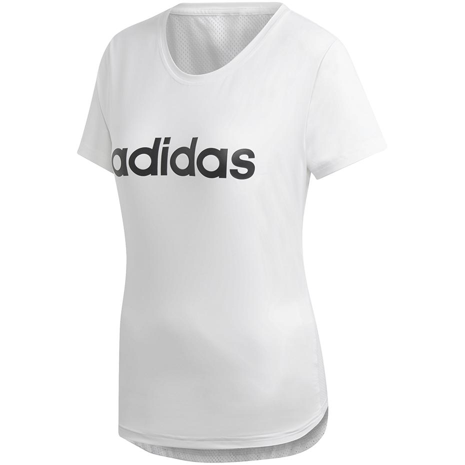 Koszulka damska adidas W D2M Logo Tee biała DU2080