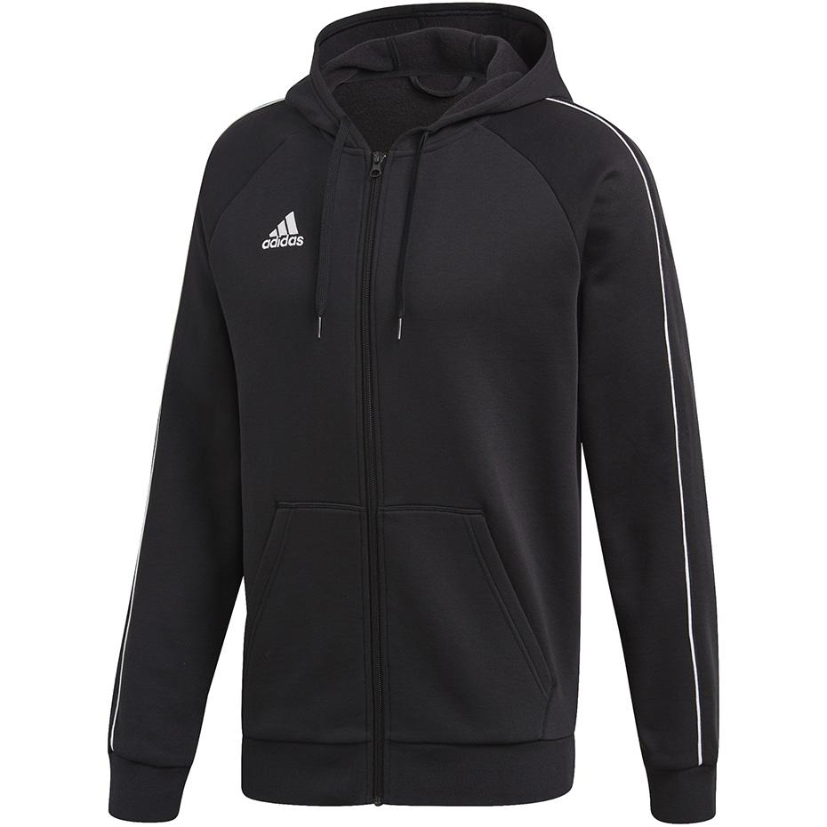 Bluza męska adidas Core 18 FZ Hoody czarna FT8068