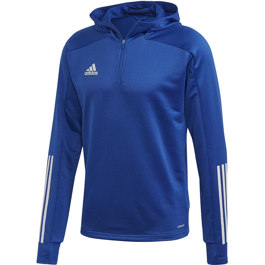 Bluza męska adidas Condivo 20 Track Hood niebieska EK2959