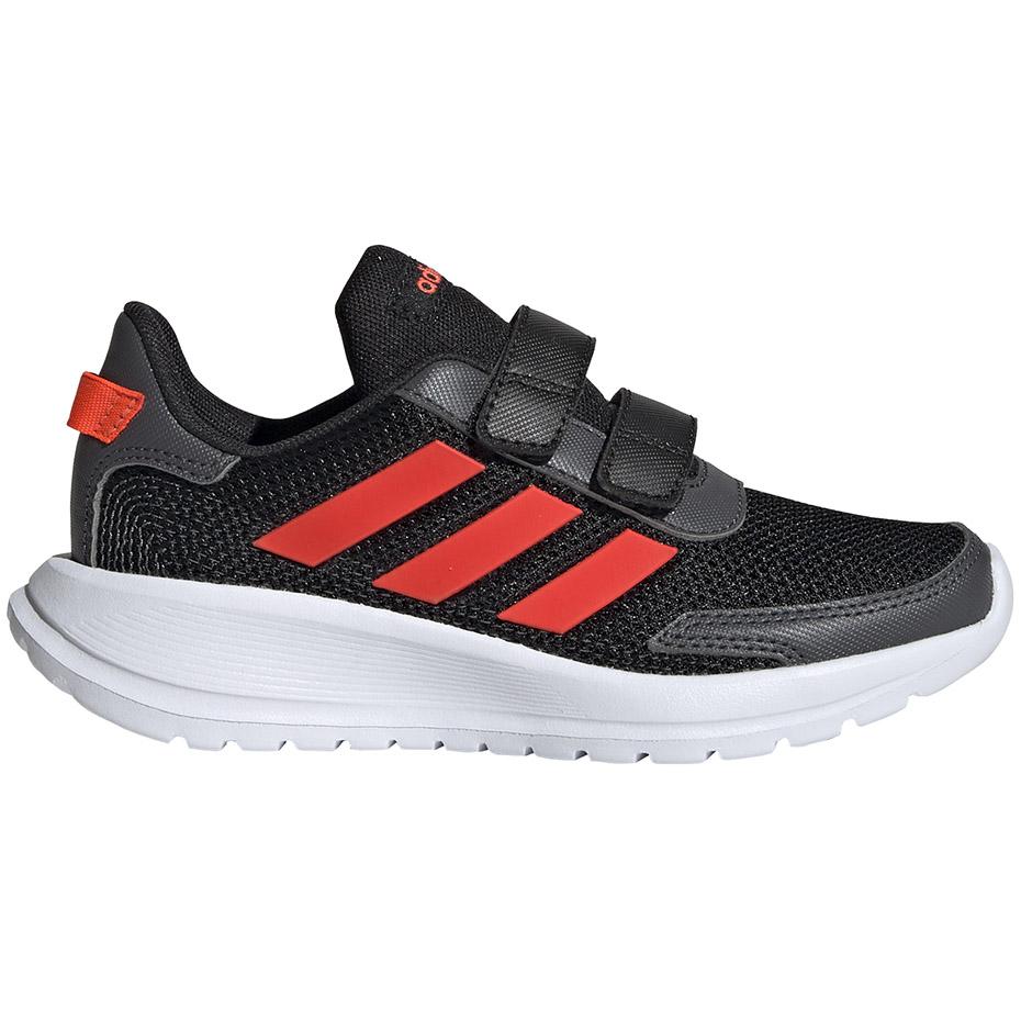 Buty dla dzieci adidas Tensaur Run C czarno czerwone EG4143