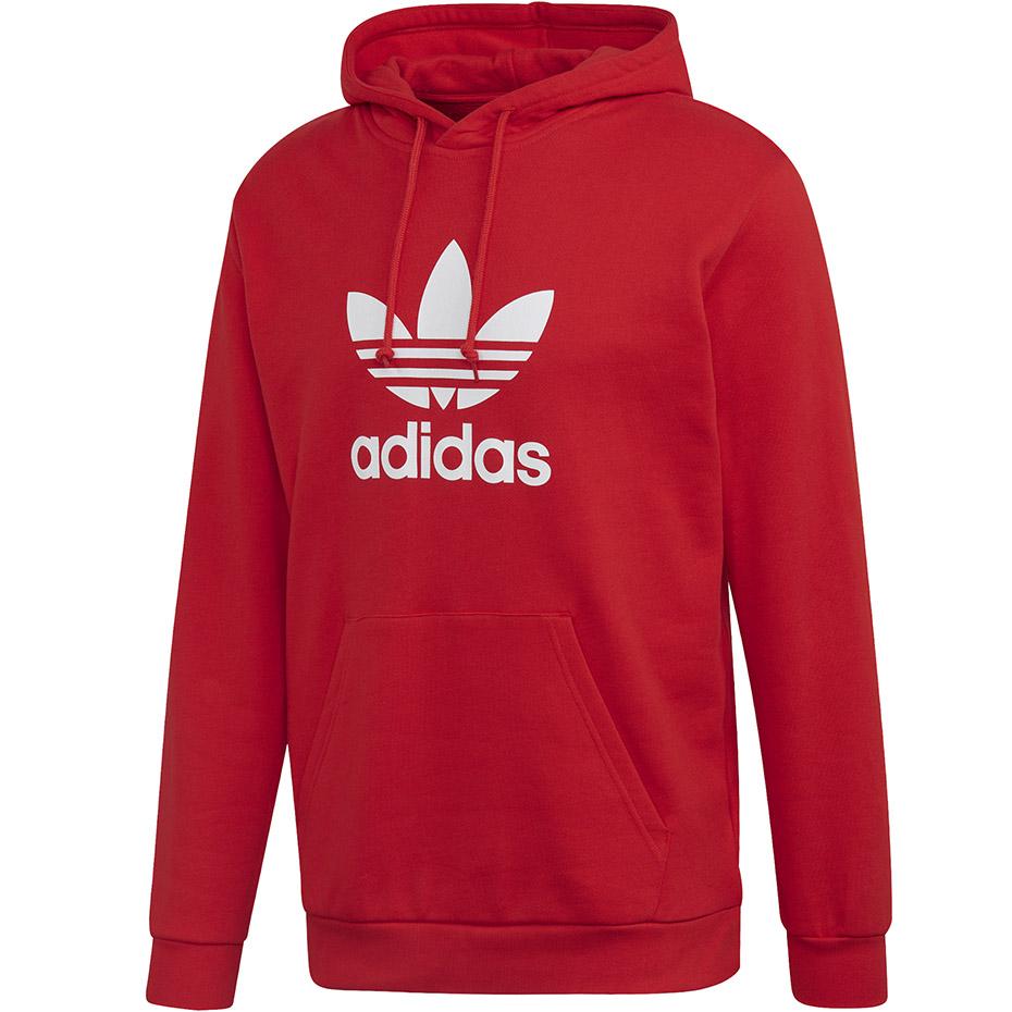 Bluza męska adidas Trefoil Hoodie czerwona FM3783