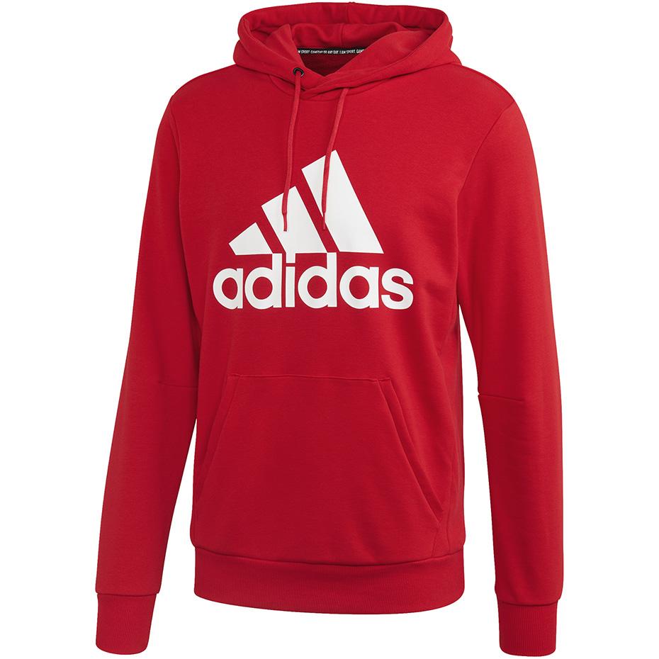 Bluza męska adidas MH Bos PO FT czerwona FR7106