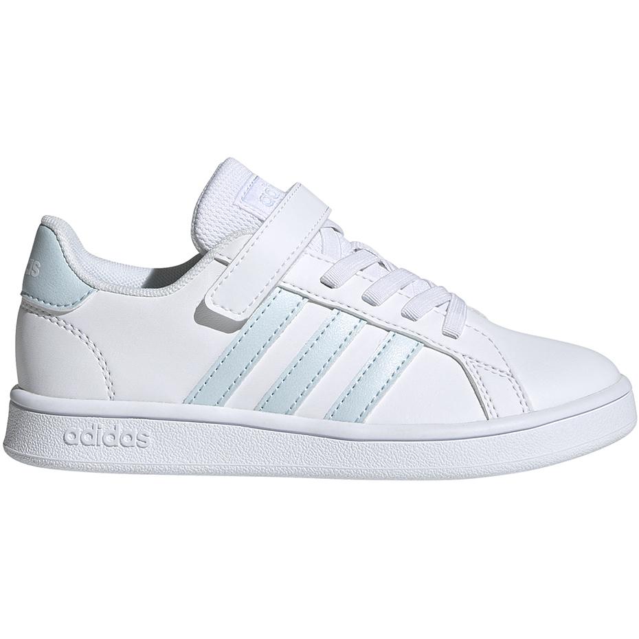 Buty Sportowe Casual Dziecięce Adidas Grand Court K Biały Różowy 31,5