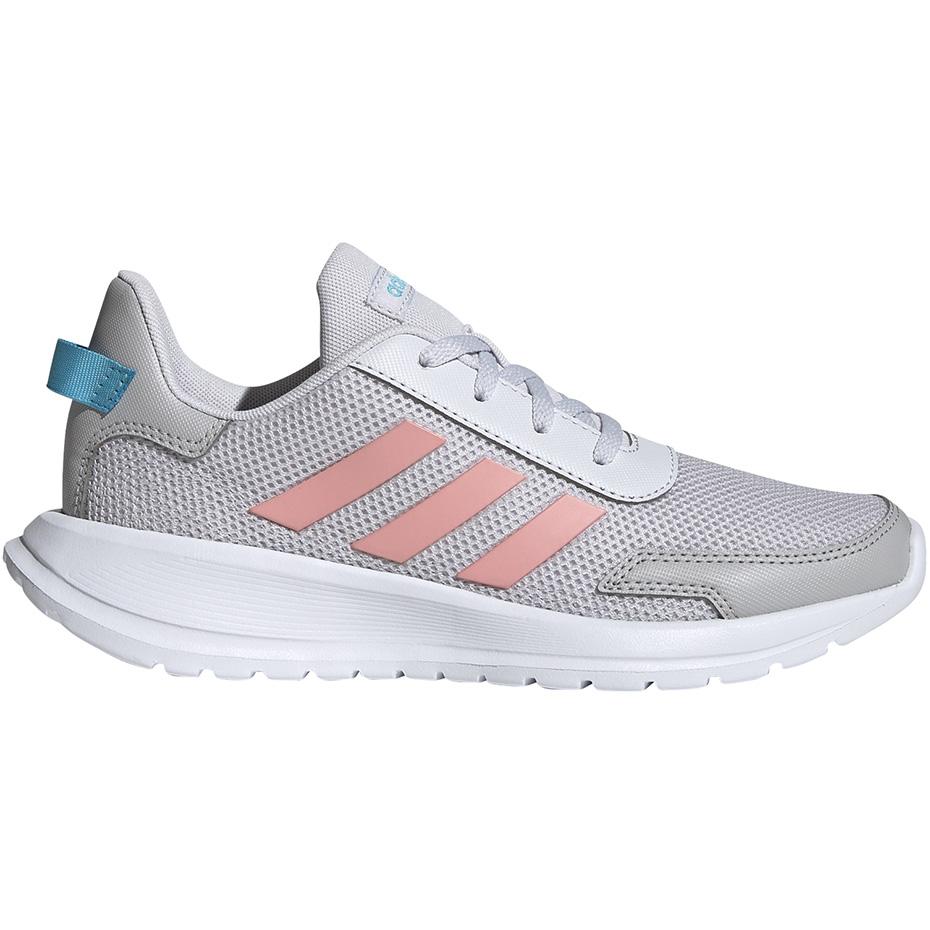 Buty dla dzieci adidas Tensaur Run K szaro różowe EG4132
