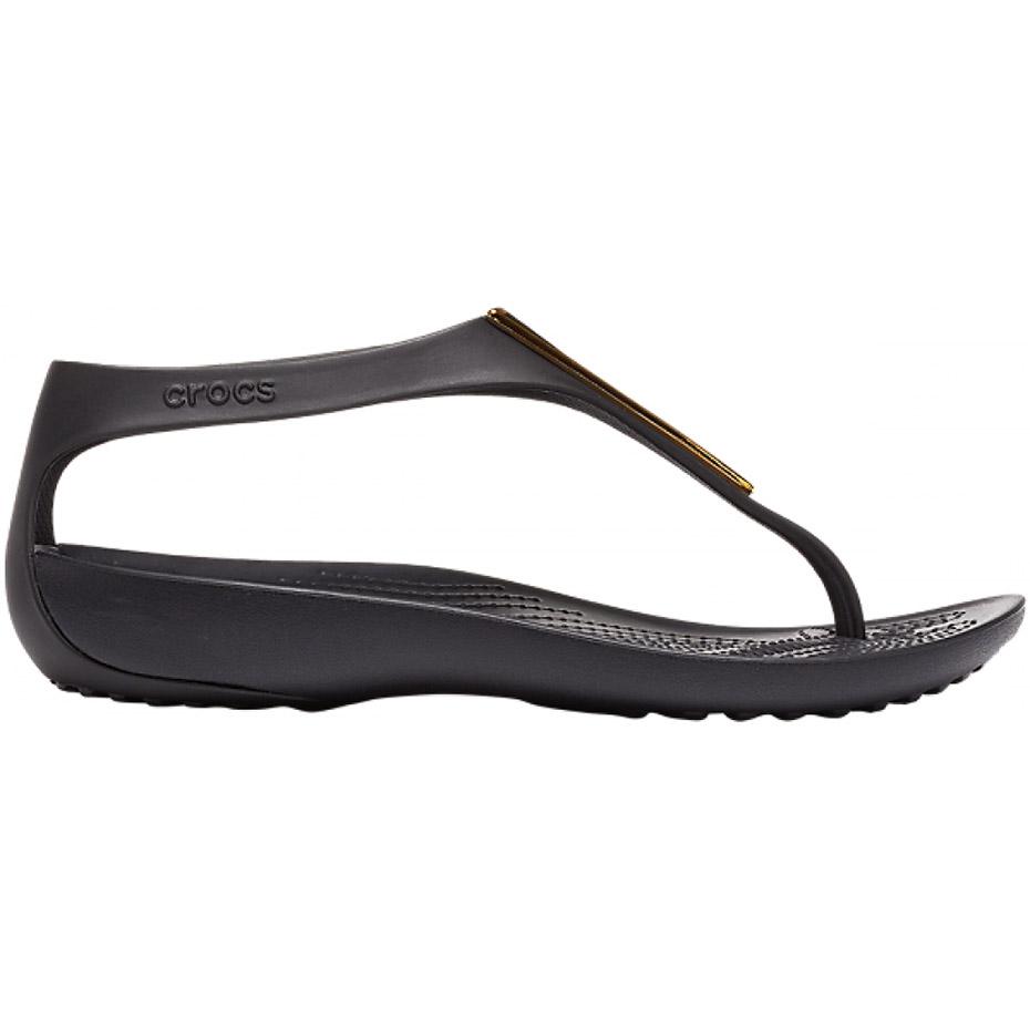 Crocs sandały damskie Serena Metallic Bar Fp W czarno złote 206420 751