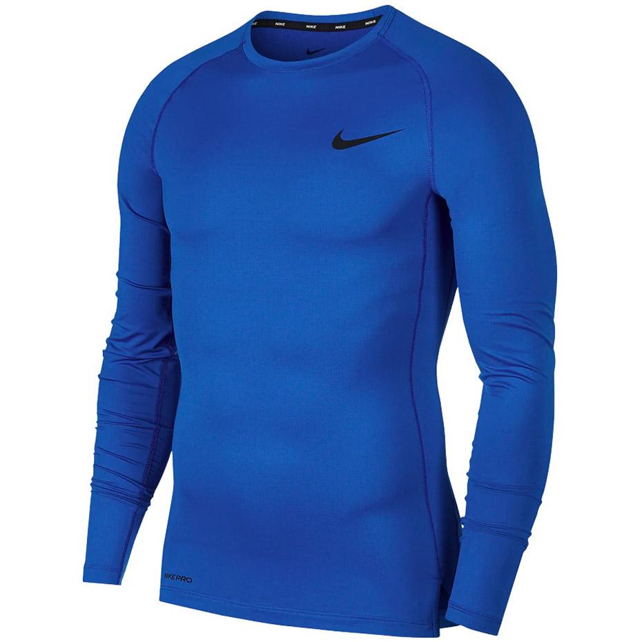 Koszulka męska Nike NP Top LS Tight niebieska BV5588 480