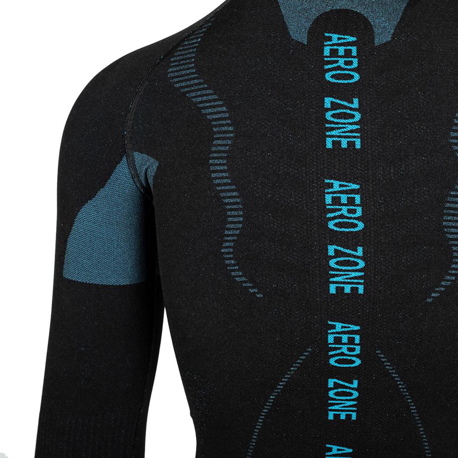 Bluza termoaktywna damska Alpinus Tactical Base Layer czarno-niebieska GT43210