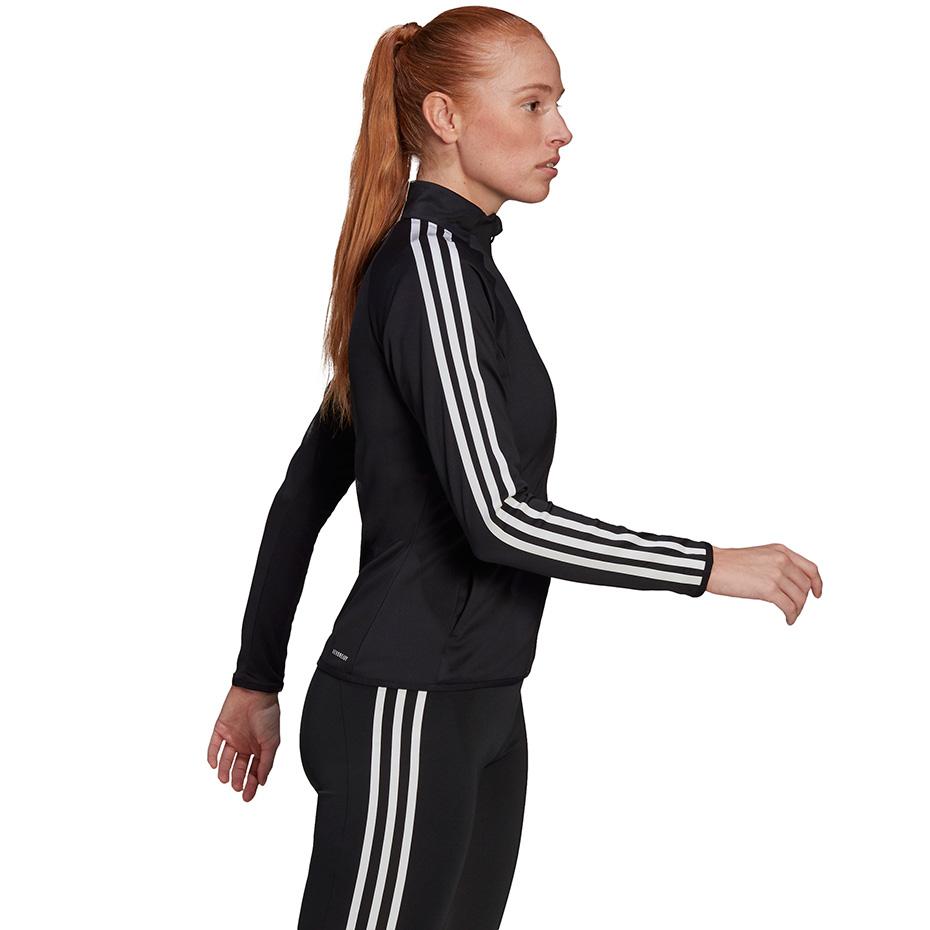 Bluza damska adidas Aeroready Designed 2 Move 3 Stripes Track Jacket czarna GL3800
