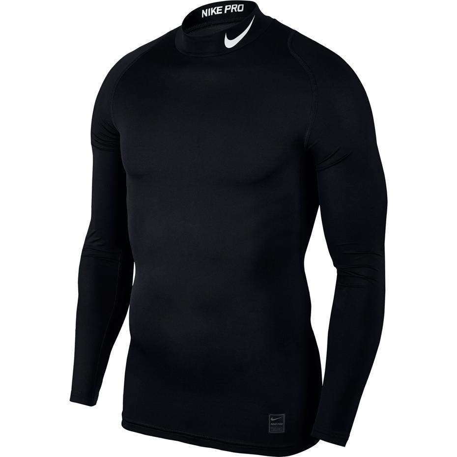 Koszulka męska Nike Pro Top Compression Mock LS czarna