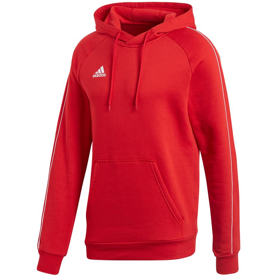 Bluza męska adidas Core 18 Hoody czerwona CV3337