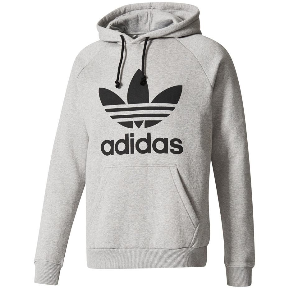 Bluza męska adidas Trefoil Hoody szara BR4164 Cena, Opinie