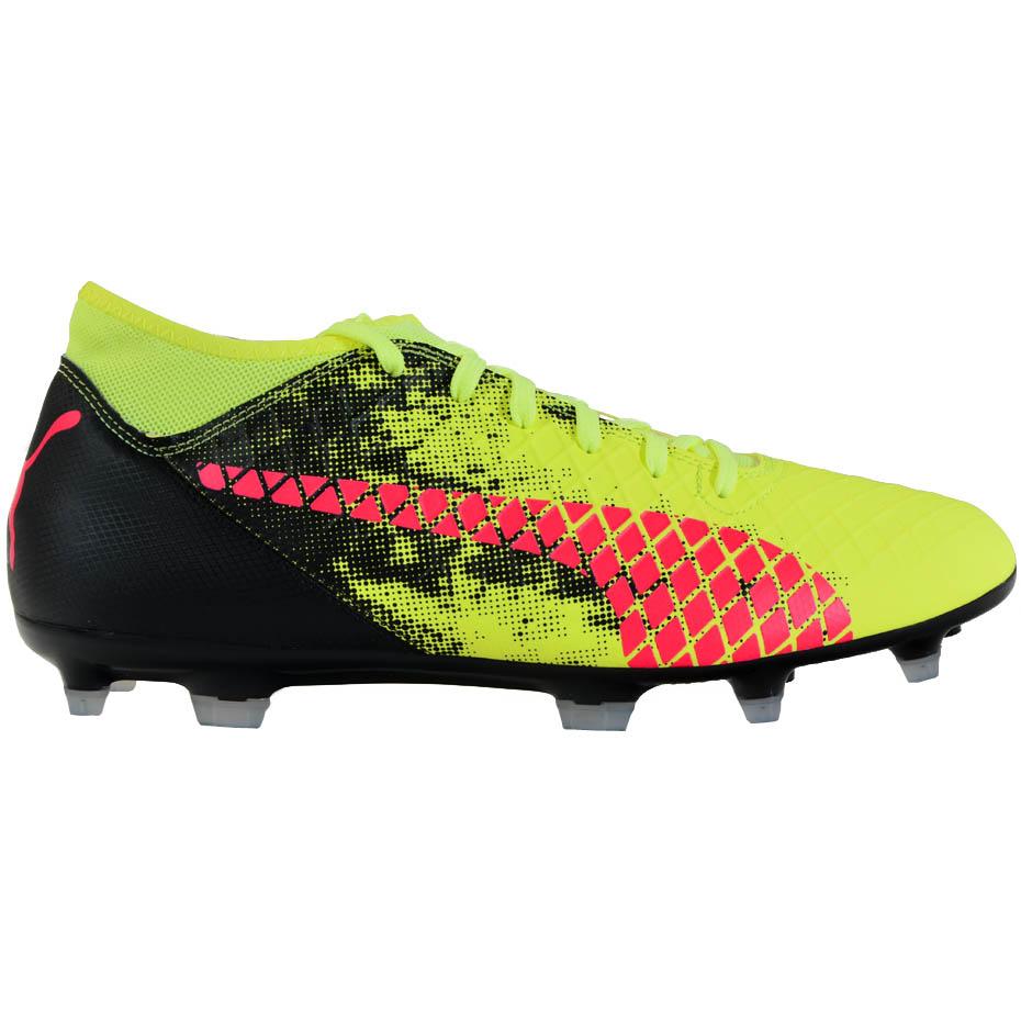 Buty piłkarskie Puma Future 18.4 FG AG JUNIOR żółto czarne