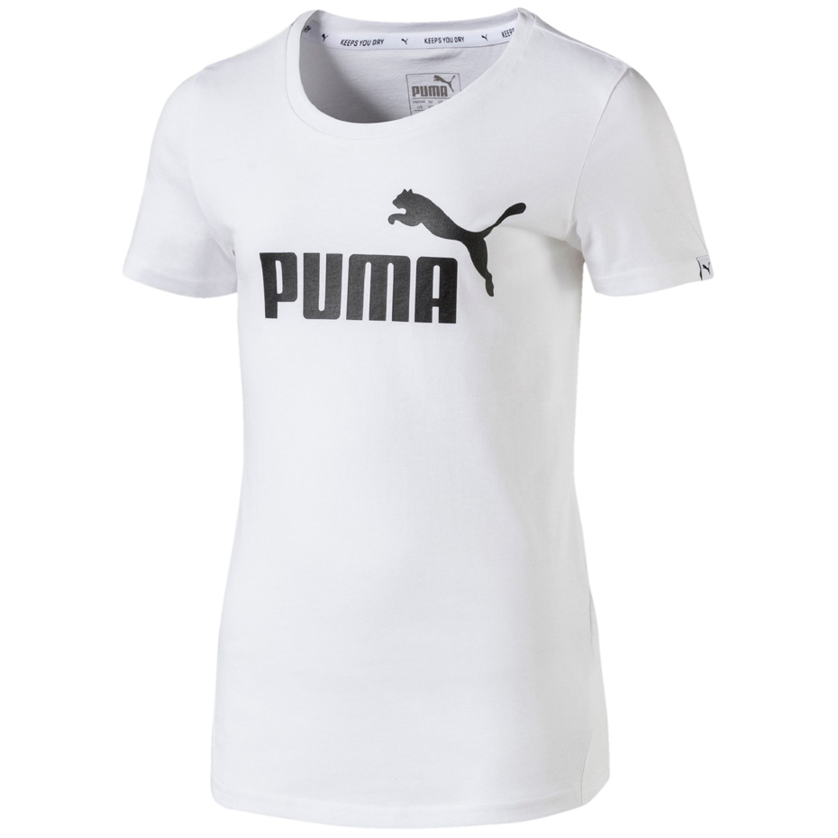 Koszulka dla dzieci Puma Style ESS Logo Tee G biała JR