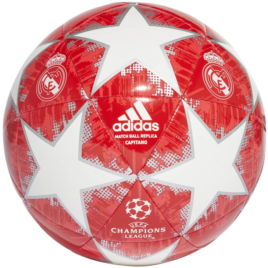 Piłka nożna adidas Finale Real Madrid Capitano zielono granatowo biała DY2541 Rozmiar 4