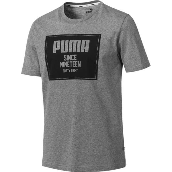 79aa7387a Koszulka męska Puma Rebel Block Basic Tee szara 852395 03 - Cena, Opinie –  Sklep Sportbazar.pl