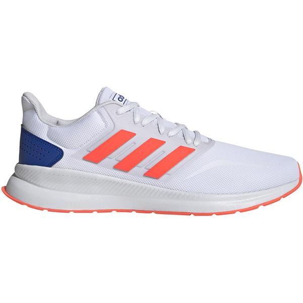 Buty męskie adidas Runfalcon biało pomarańczowe EG8612