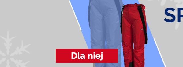 Spodnie narciarskie dla niej